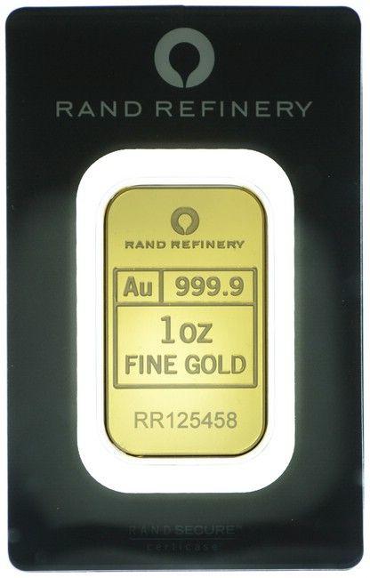 Rand Refinery Goldbarren 1 Unze 9999 1000 Gold Vault Gold Reserve Silver Gold