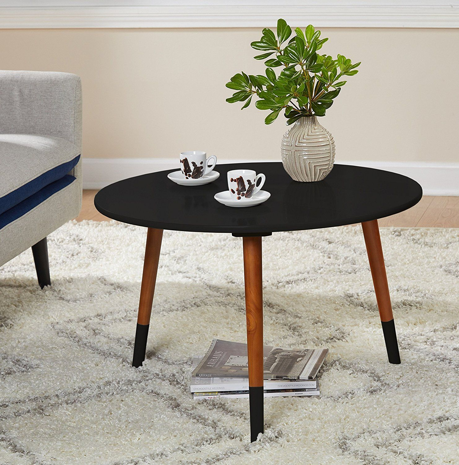 Amazon Com Target Marketing Systems Livia Collection Ultra Modern Round Coffee Table With Splayed Le Round Coffee Table Modern Coffee Table Round Coffee Table [ 1500 x 1482 Pixel ]