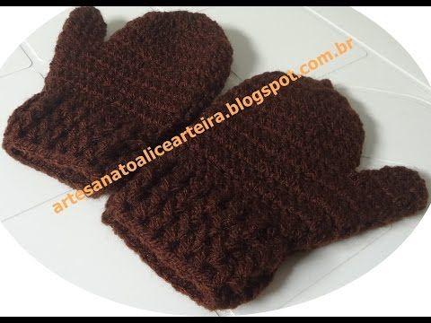 Tutorial Manopla Crochet o Ganchillo Niño Mittens Kid - YouTube ...