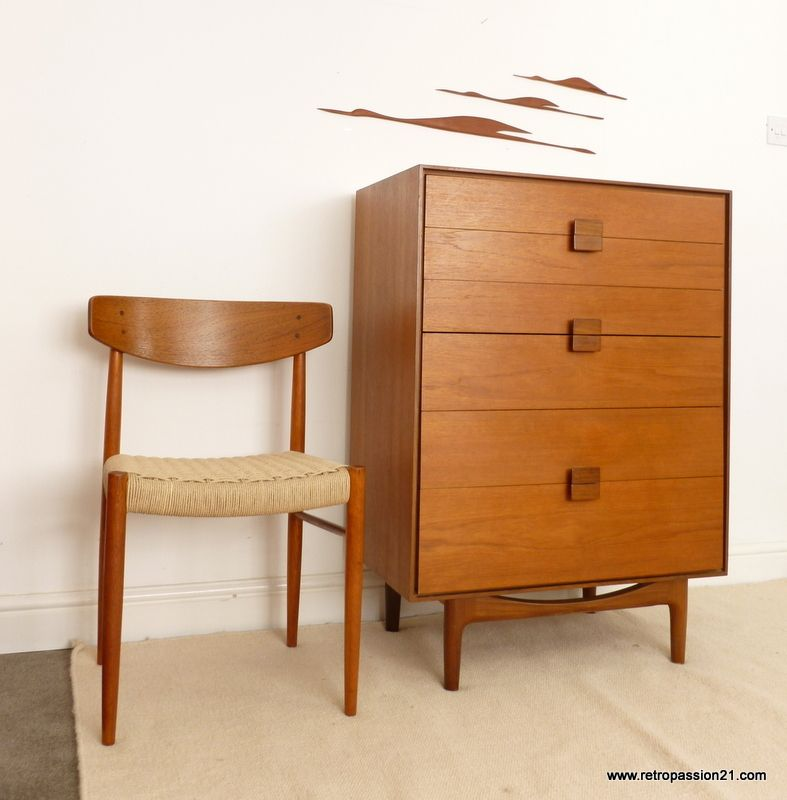 Mid century chest of drawers ib kofod larsen for g plan for Mobili danesi