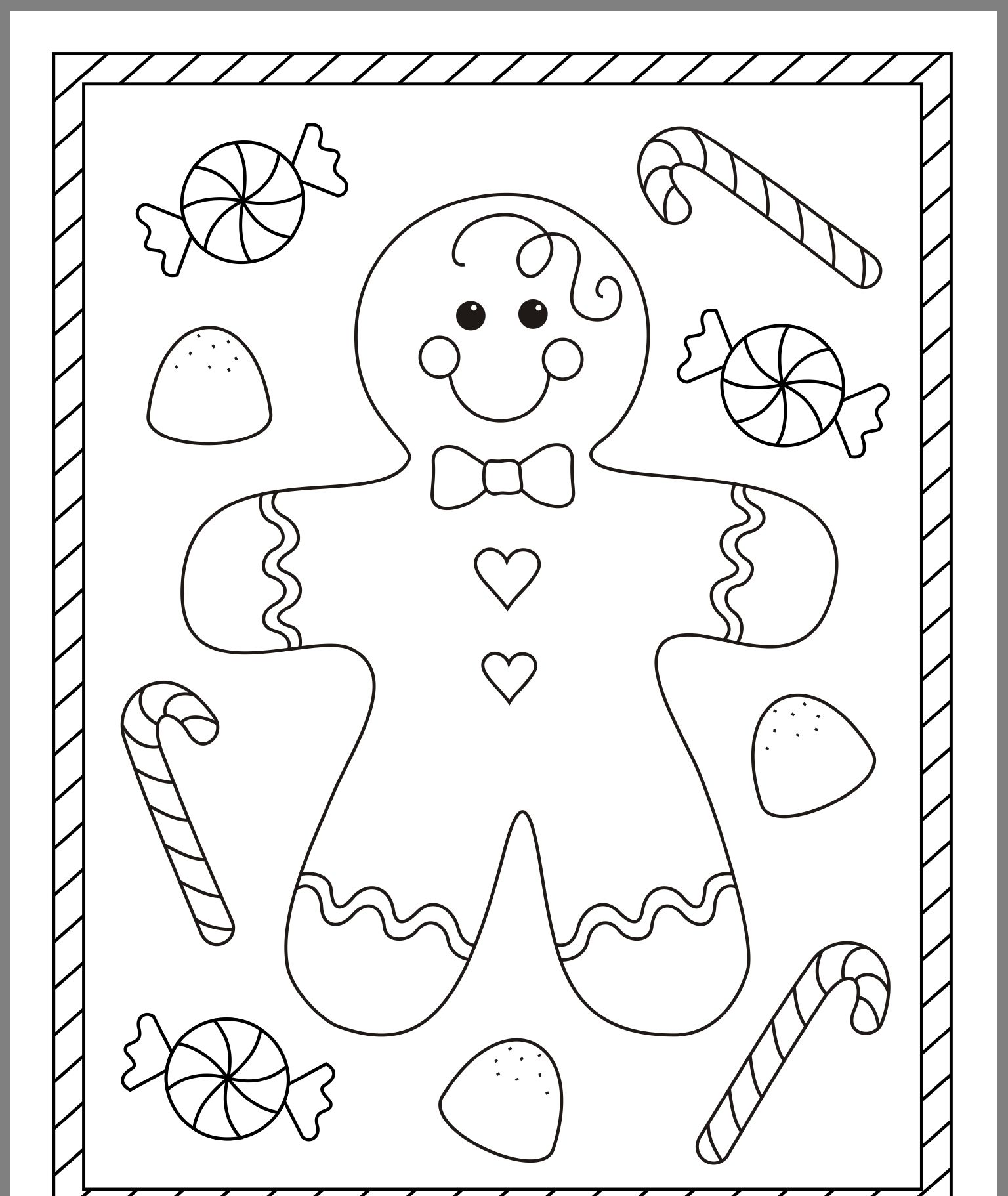 Free Christmas Coloring Pages Image By Sara Mcintyre On