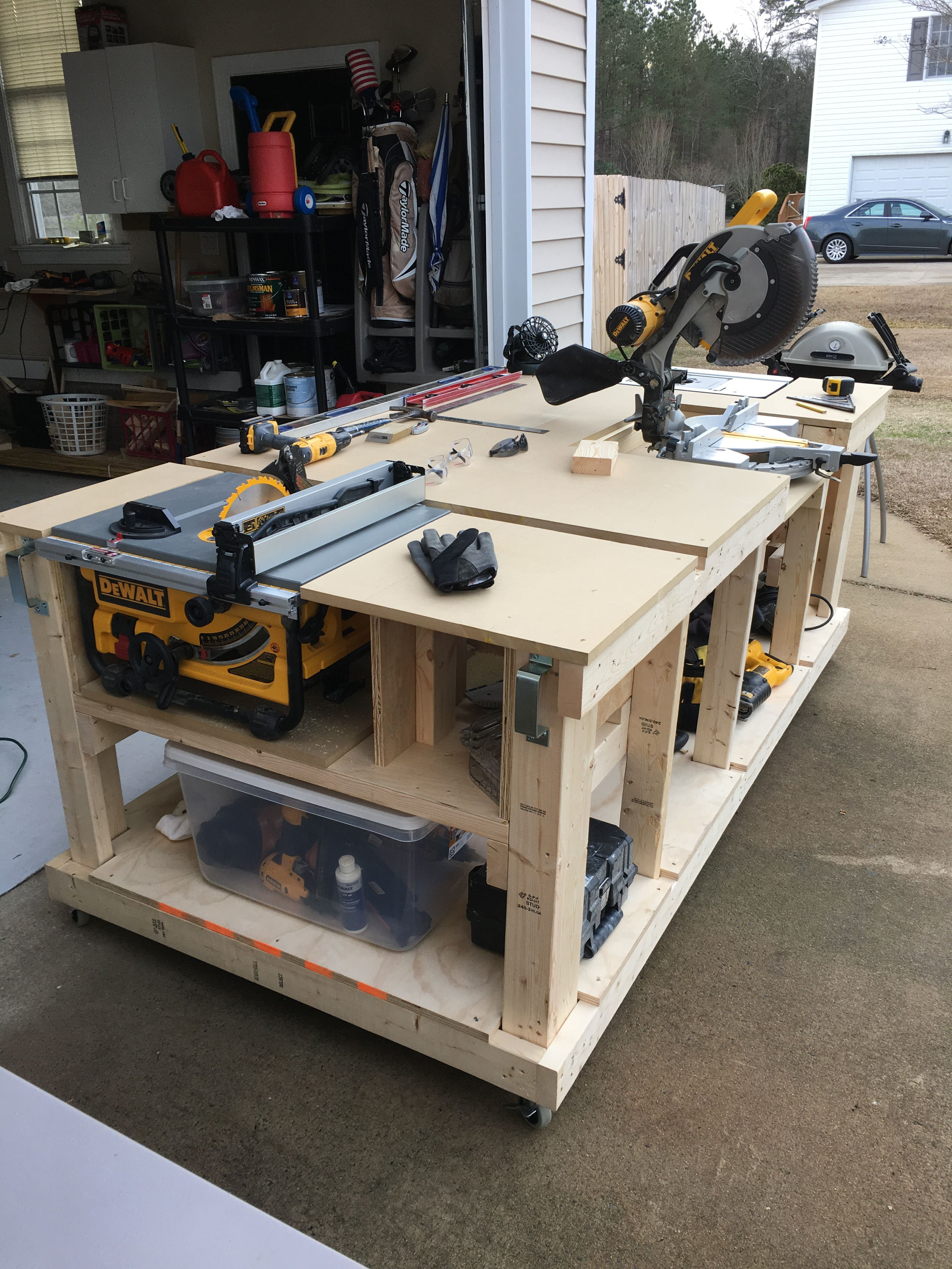 Woodworking Table Saw Workbench Plans