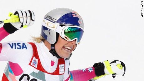American skier Lindsey Vonn clinched World Cup victory number 62 Sunday, equaling the all-time record which has stood for 35 years