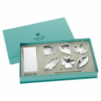 Ercuis Leaf selection place card holders, set of 6