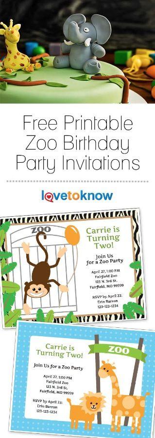 Zoo Birthday Invitation Templates in 2018 Holidays, Celebrations