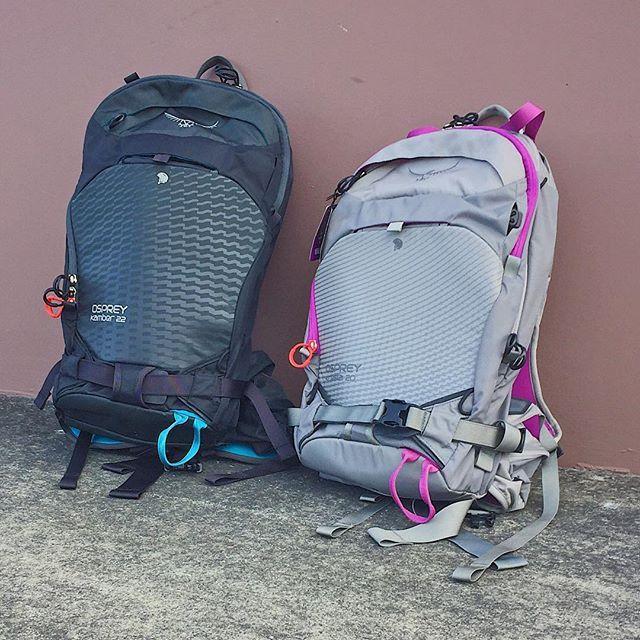 HIS AND HERS.     The Osprey Kamber 22 and Kresta 20 backpacks ... ae40c93aa3386