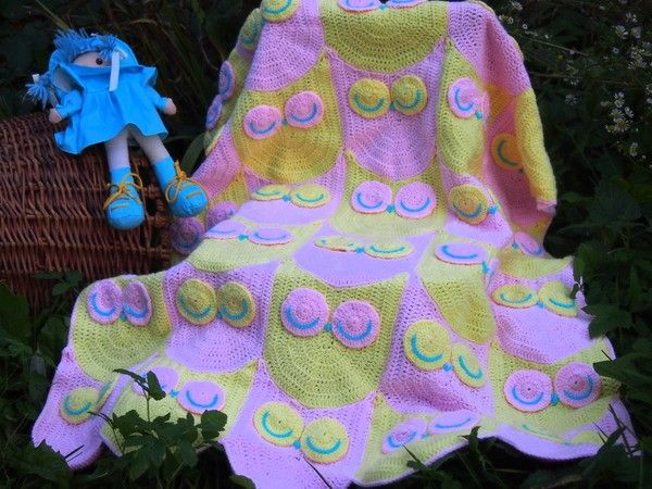 Owl Blanket Crochet Pattern 2 Crochet Pinterest Owl Blanket