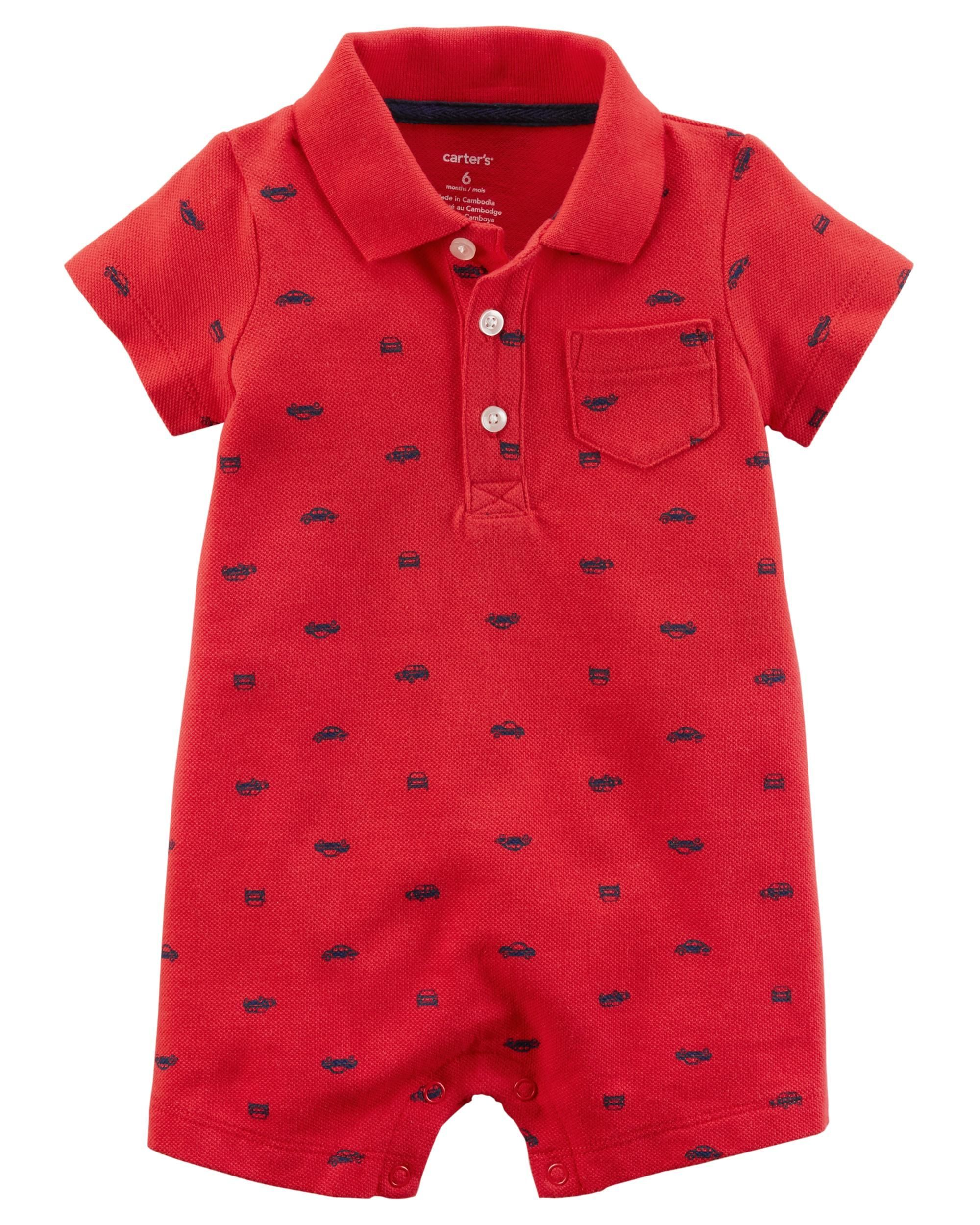 Carters Baby Boys Graphic Romper