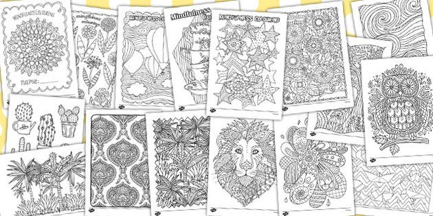 Mindfulness Colouring Sheets For Children Bumper Pack Mindfulness Colouring Mindfulness Colouring Sheets Coloring Sheets