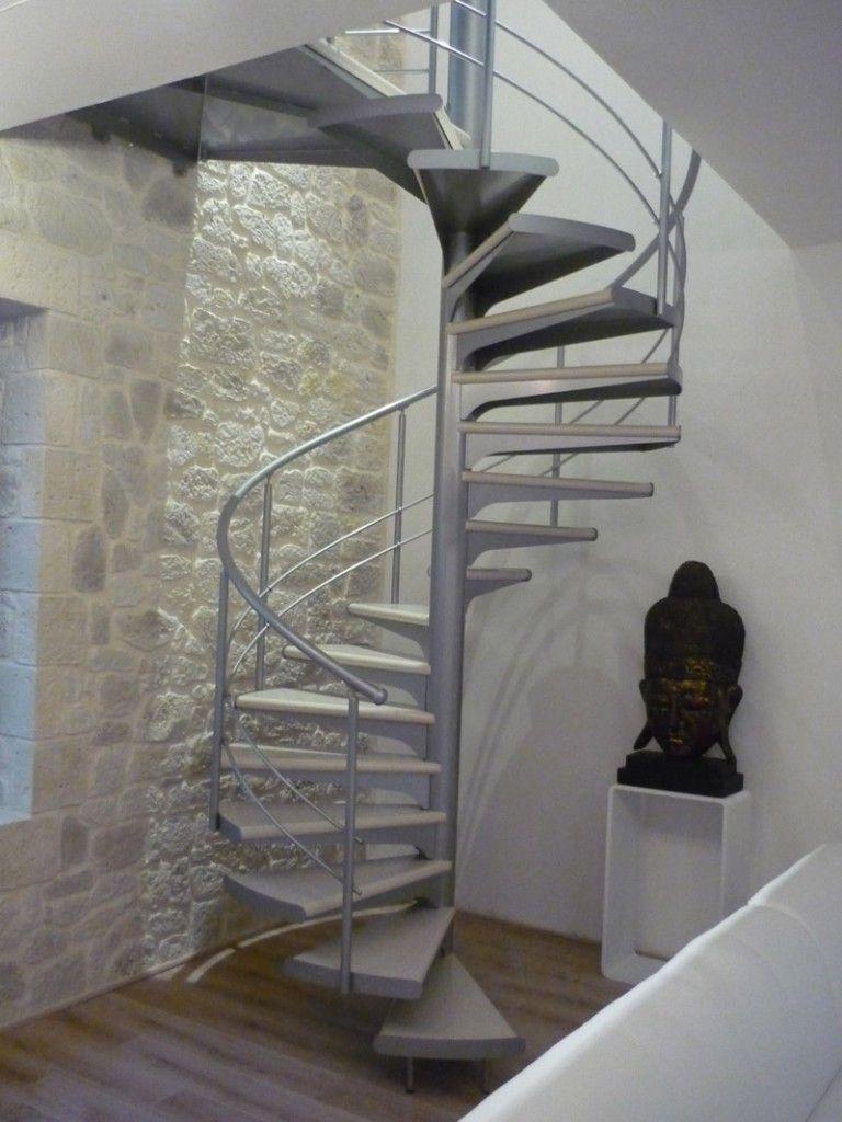 Très Escalier en colimaçon acier laqué DHELICE : vente Escaliers  JH81