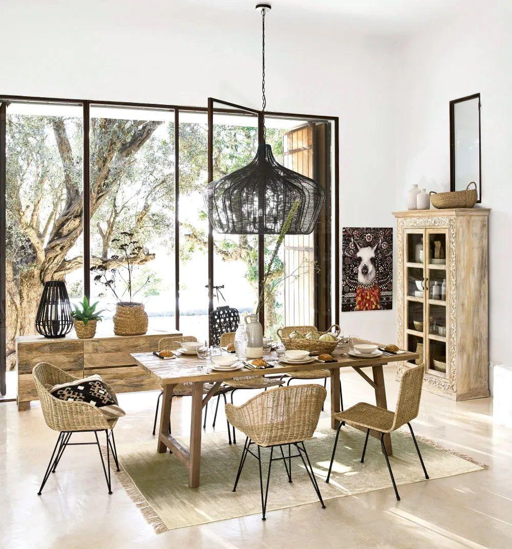 Table A Manger 6 8 Personnes Mendoza En Pin Massif Table A Diner Maisons Du Monde Iziva Com Maison Du Monde Meuble Deco Deco Maison