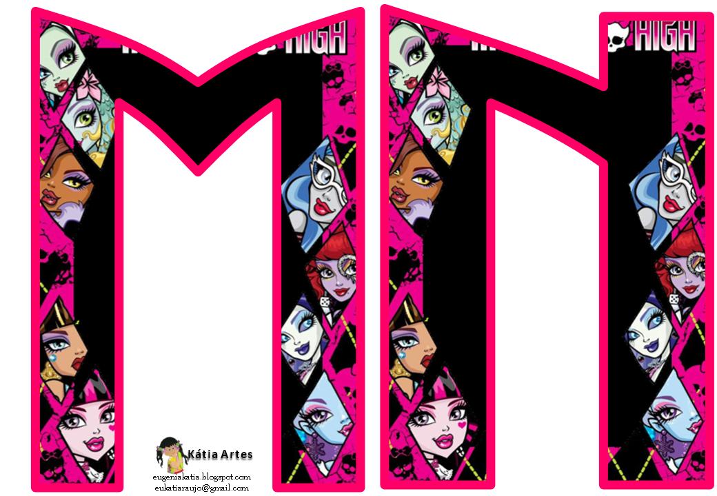 Alfabeto con caras de las Monster High. | Oh my Alfabetos!
