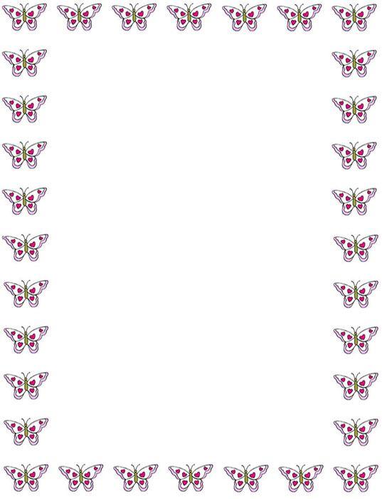 Bordes decorativos bordes decorativos de mariposas para for Decoraciones para hojas