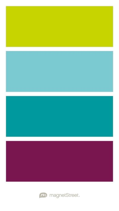 Chartreuse turquoise teal and sangria wedding color palette custom created at magnetstreet also rh pinterest