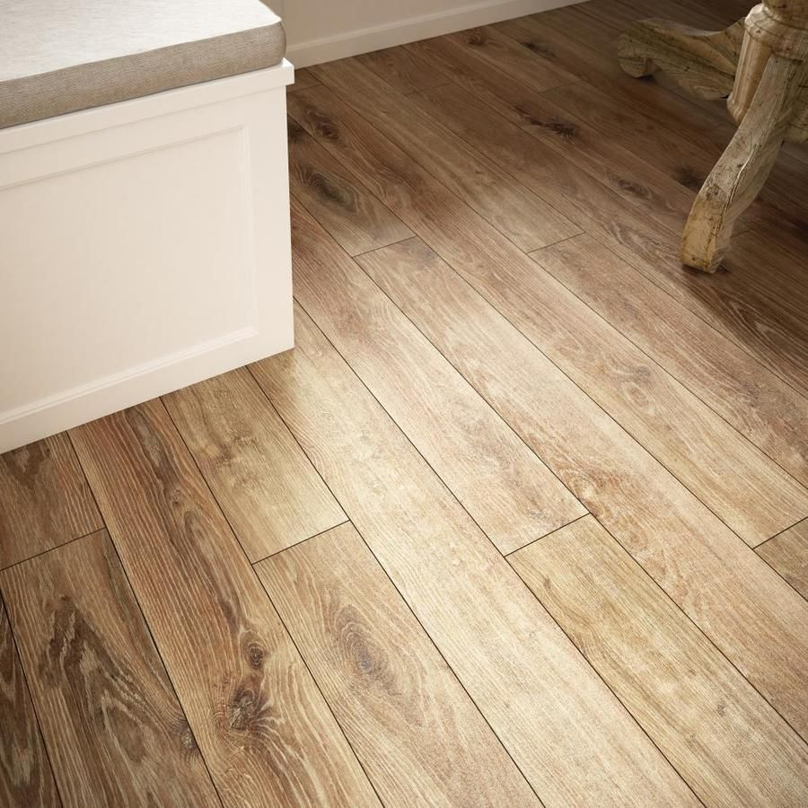 Allen Roth Handscraped Driftwood Oak 4 96 In W X 4 23 Ft L Handscraped Wood Plank Laminate Flooring Lowes Com Handscraped Wood Flooring Weathered Oak