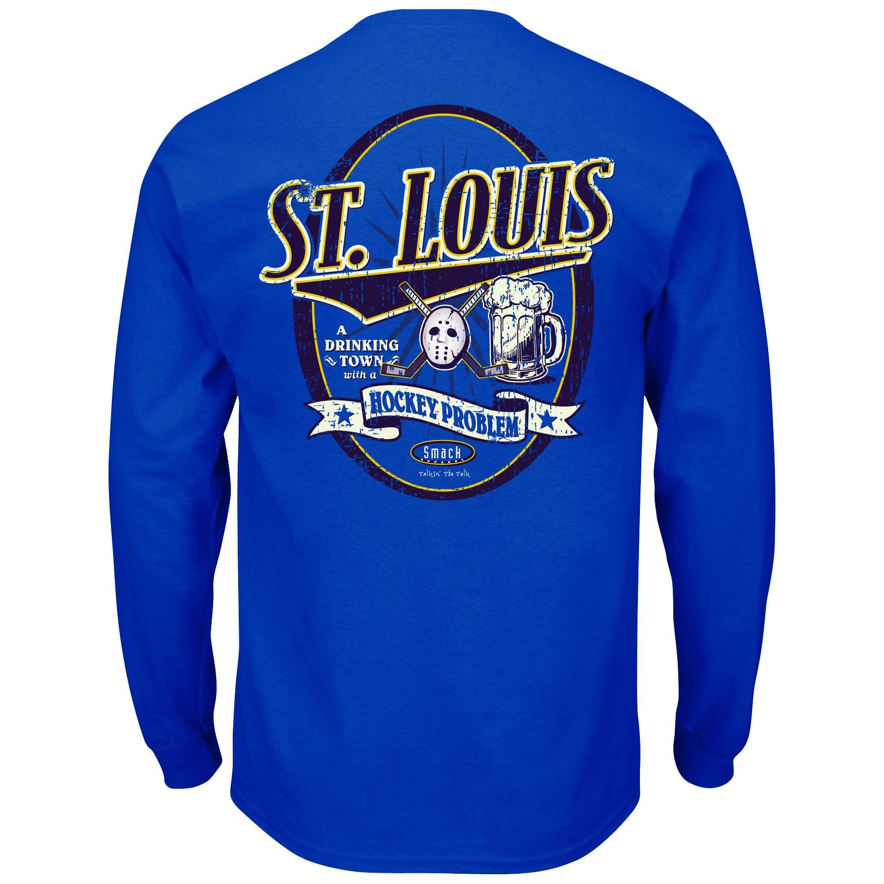 St louis blues fans drinking town long sleeve tshirt pinterest