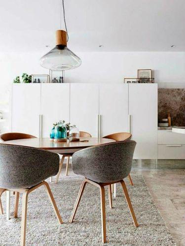 Des chaises pour salle à manger contemporaine Interiors, Exposed - decoration salle a manger contemporaine