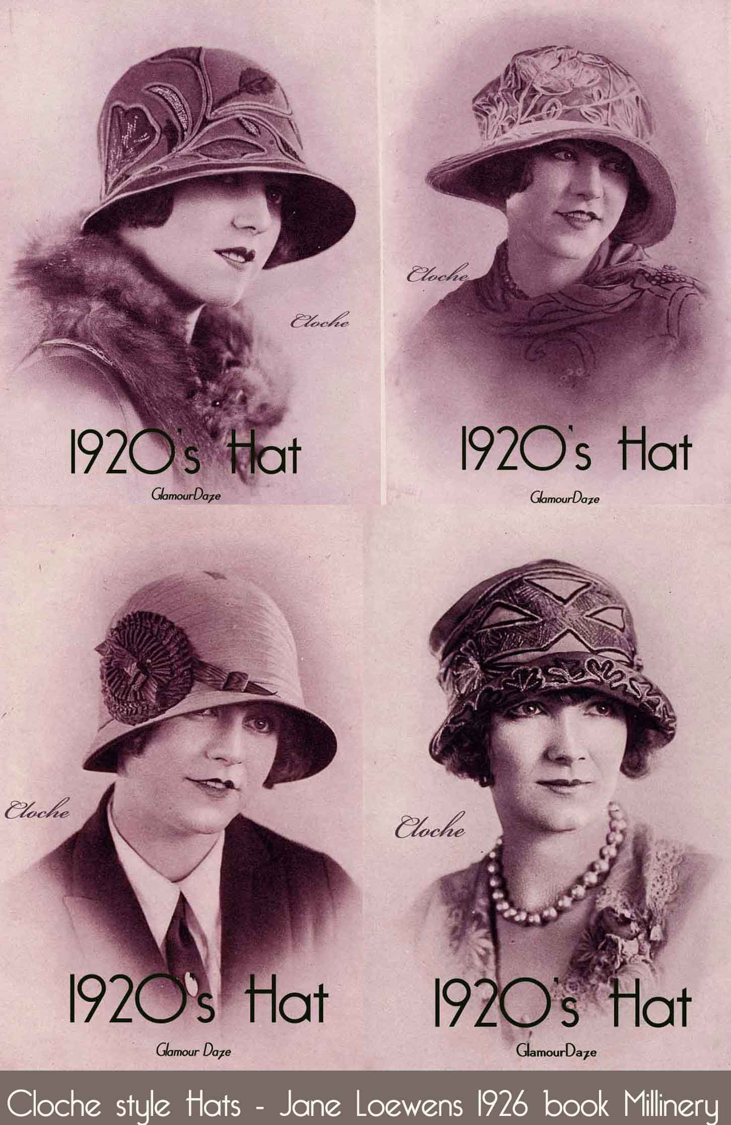 1920′s Cloche Hat Fashion – Matching a hat to your face. Better known as  Line harmony 267a3f29b01