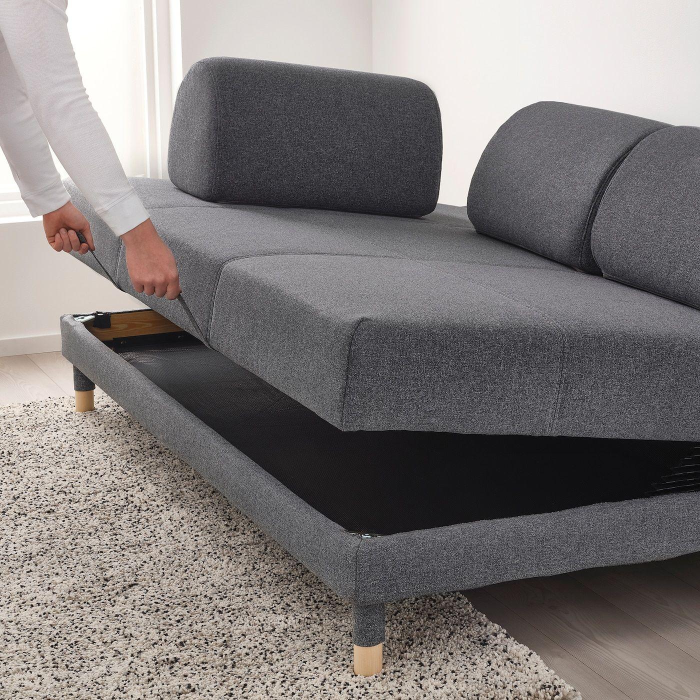 Flottebo Sleeper Sofa Gunnared Medium Gray Ikea Sleeper Sofa