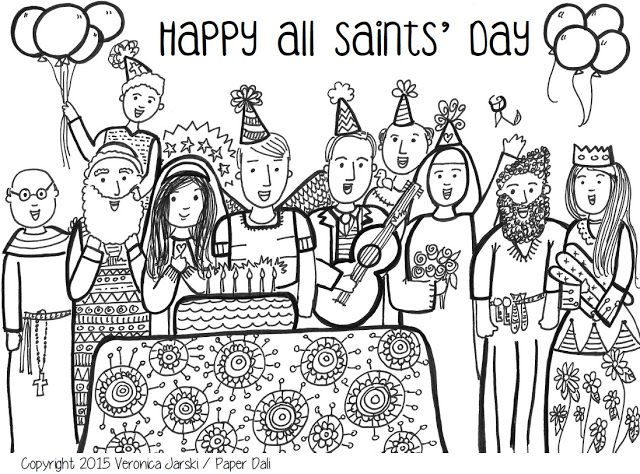 Free All Saints Day Coloring Page Downloadable Pdf All Saints Day Saint Coloring All Saints