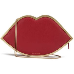 Lulu Guinness Women's New Larger Lips Clutch Bag - Red | Edgy ...
