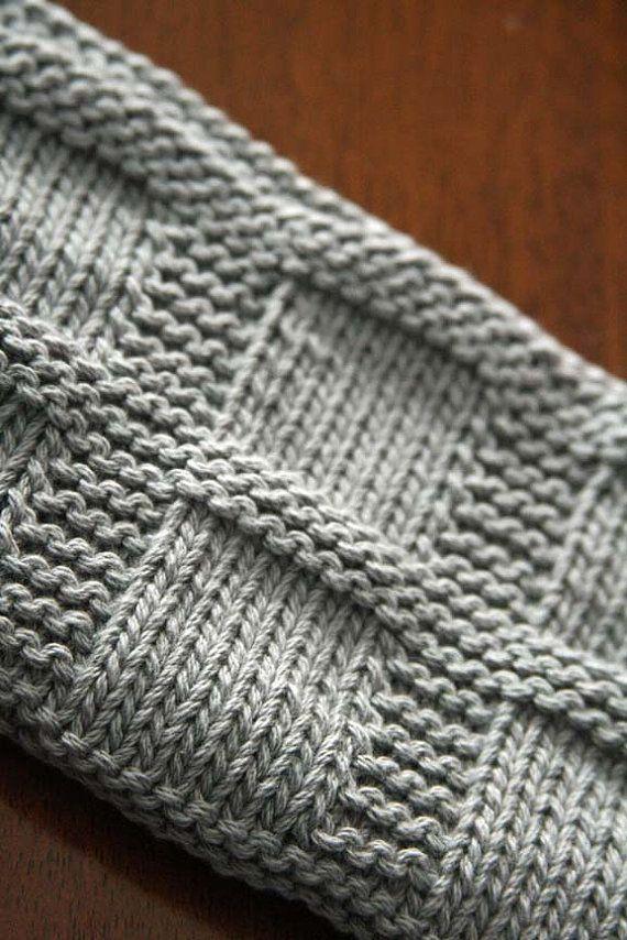 Knitting Pattern, PDF Dishcloth Pattern, Washcloth Instant Download ...