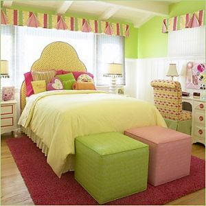 Fresh Soothing And Pretty Pink Green And Yellow Children S Room