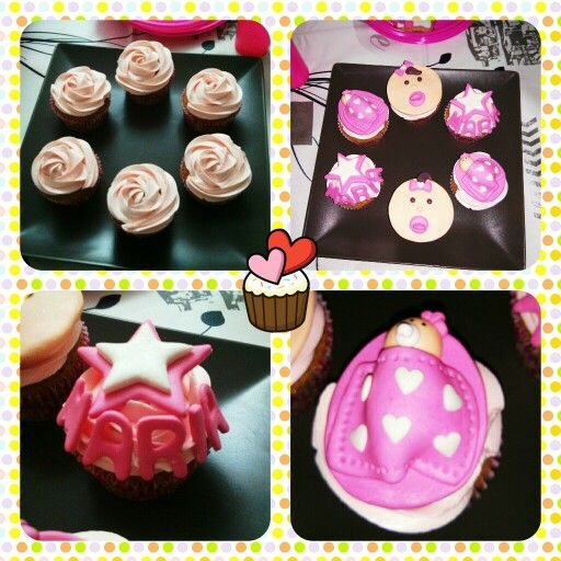 Baby Shower cupcakes - Girl