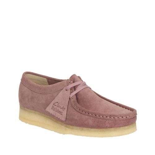 b6959062 Womens Wallabee Vintage Pink Suede - Clarks Womens Shoes - Womens ...