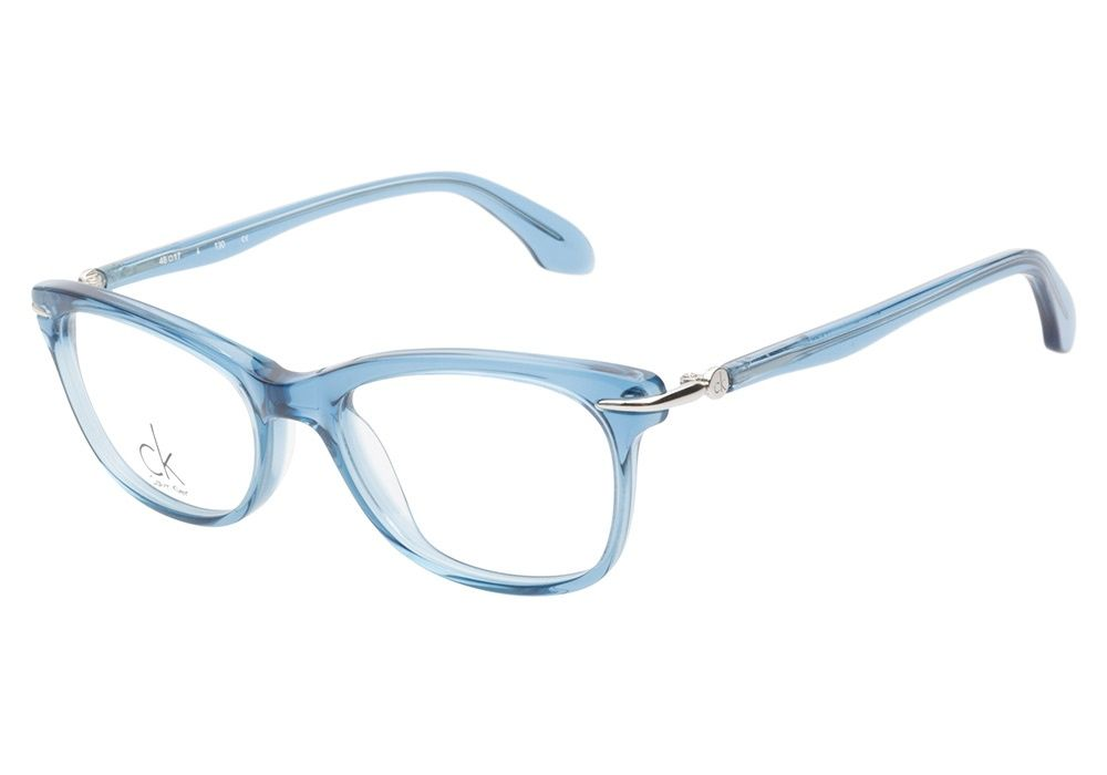 d432cac01b Calvin Klein CK5731 404 Crystal Blue eyeglasses are brilliantly enticing.  This crystal blue acetate frame has a subtle cateye shape