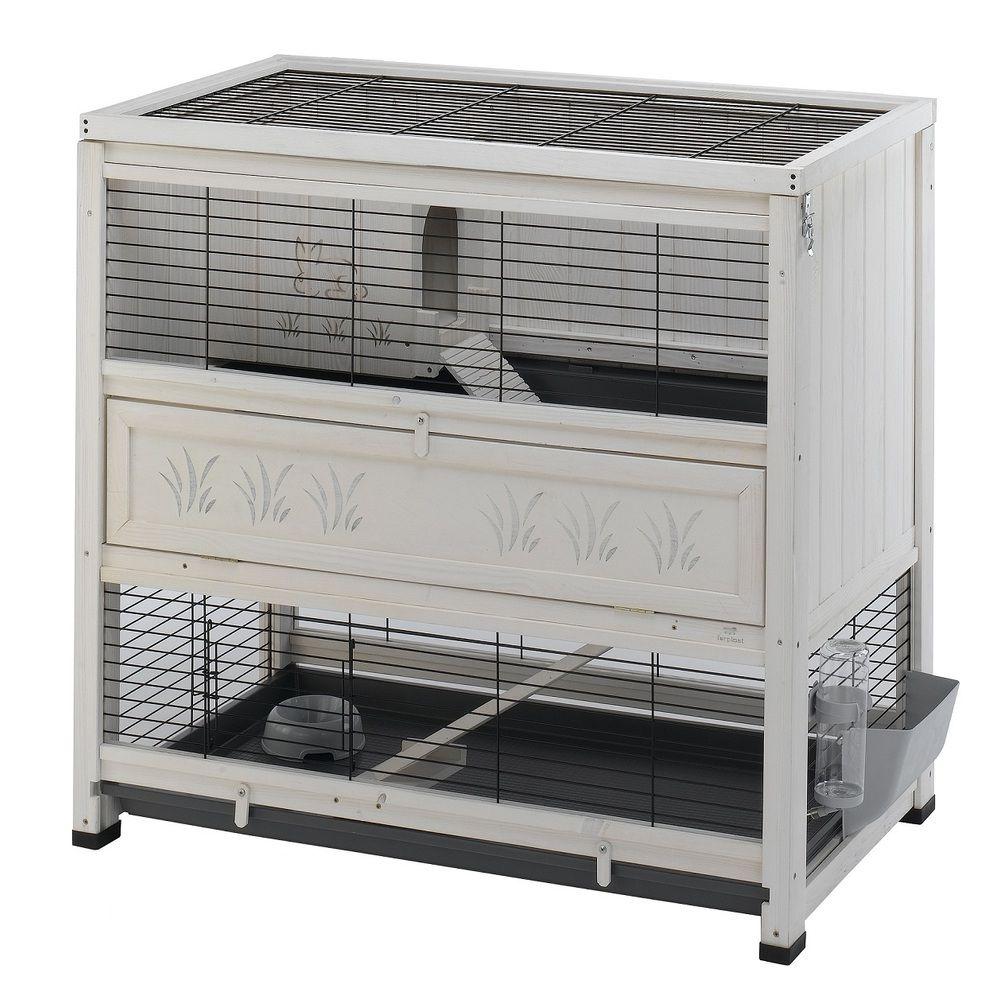 Clapier d 39 int rieur en bois cottage ferplast clapiers pour lapins et rongeurs en bois for Construction en bois 6 etages