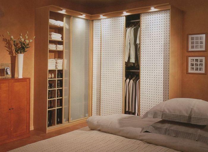 nice kleiderschrank design ecke schlafzimmer einrichten blumen ...