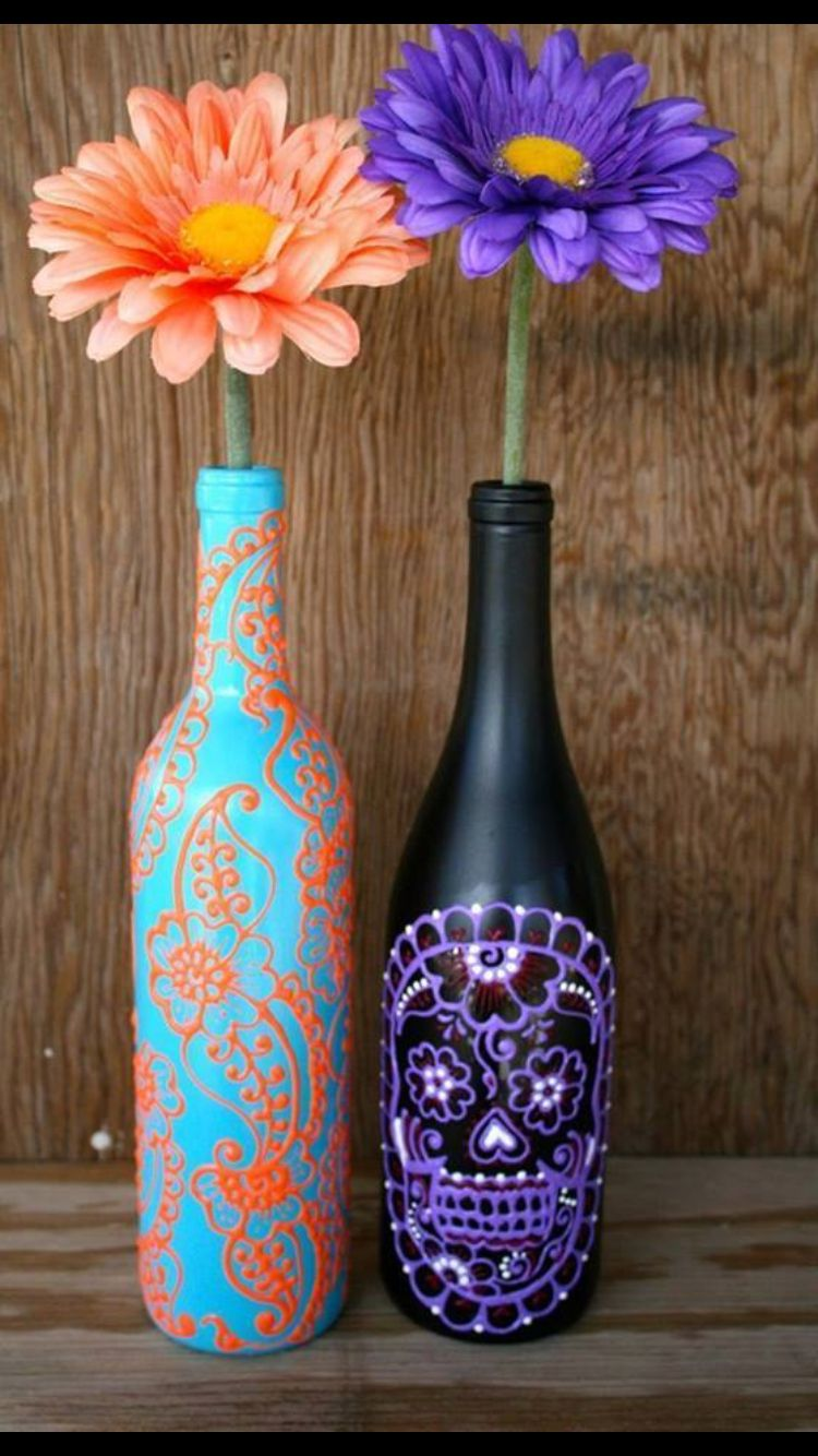 Decoration Ideas With Glass Bottles Decorate Old Glass Bottles  Craft Ideas  Pinterest  Glass