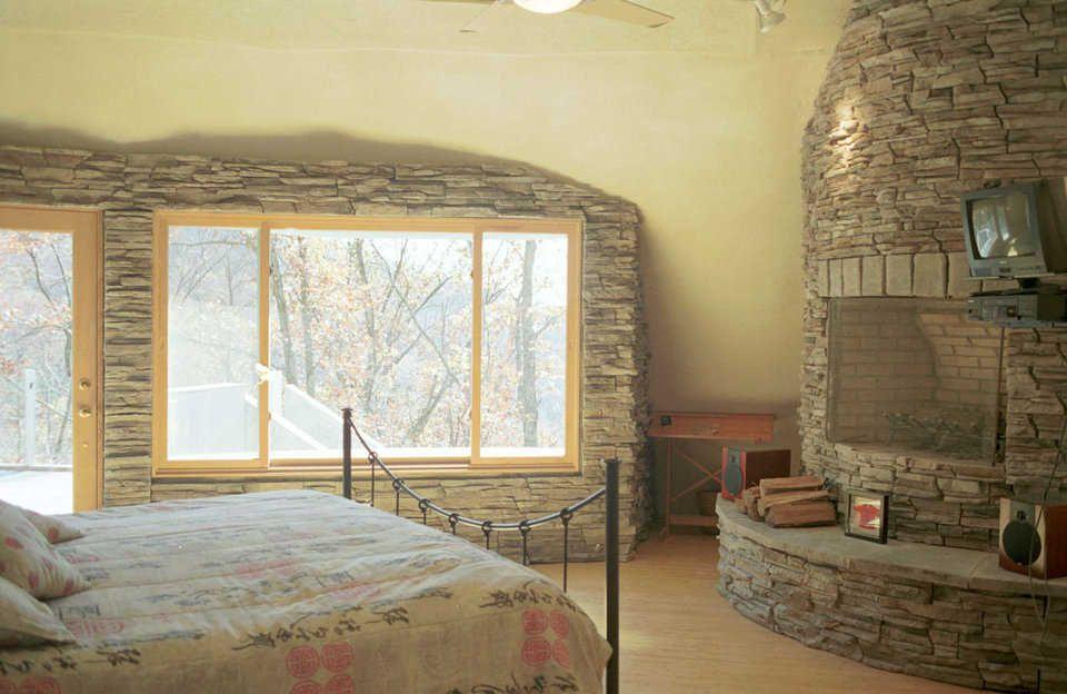 Romantic u2014 Master suite has a fireplace