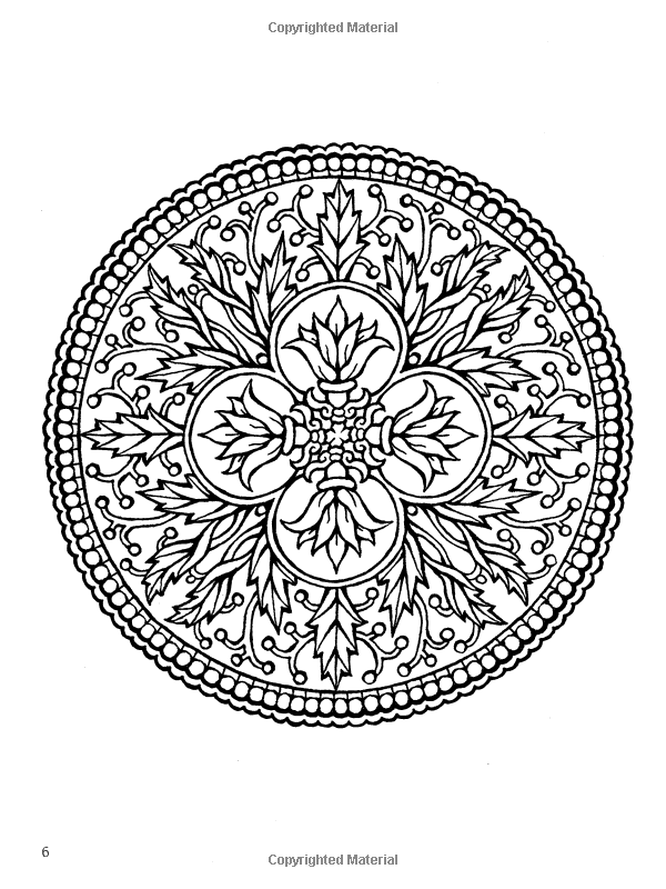 Amazon.com: Mystical Mandala Coloring Book (Dover Design Coloring ...