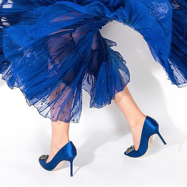 Bridal Shoes Harvey Nichols: Defining The Meaning Of Feeling BLUE With @manoloblahnikhq