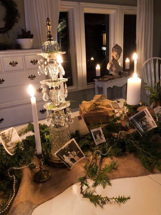 TheWindyLilac.com | Cozy Candle Lit Christmas | Cozy Christmas Decorating Ideas | TheWindyLilac.com - Sharing All Things Home-Cozy Home Decor, DIY Ideas, hacks & secrets! Seasonal Decorating Ideas, No Fail Recipes in the kitchen. Gardening, Porch, Whether your Interior Design taste is Farmhouse, French Country, Country, Coastal, Vintage, Fixer Upper, Cottage, Rustic or Shabby Chic Decor! I've got you covered! #porchescozyhome TheWindyLilac.com | Cozy Candle Lit Christmas | Cozy Christmas Decorat #porchescozyhome