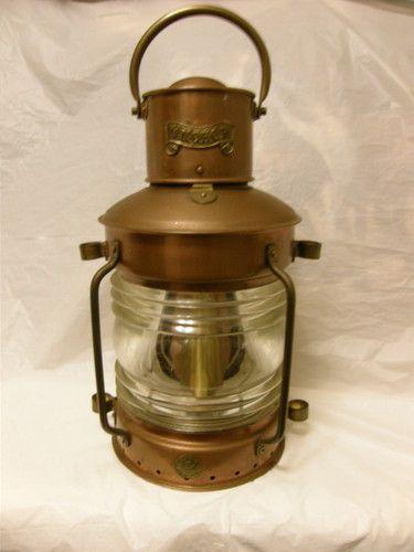 Antique Ship Anchor Oil Lantern Br Ebay