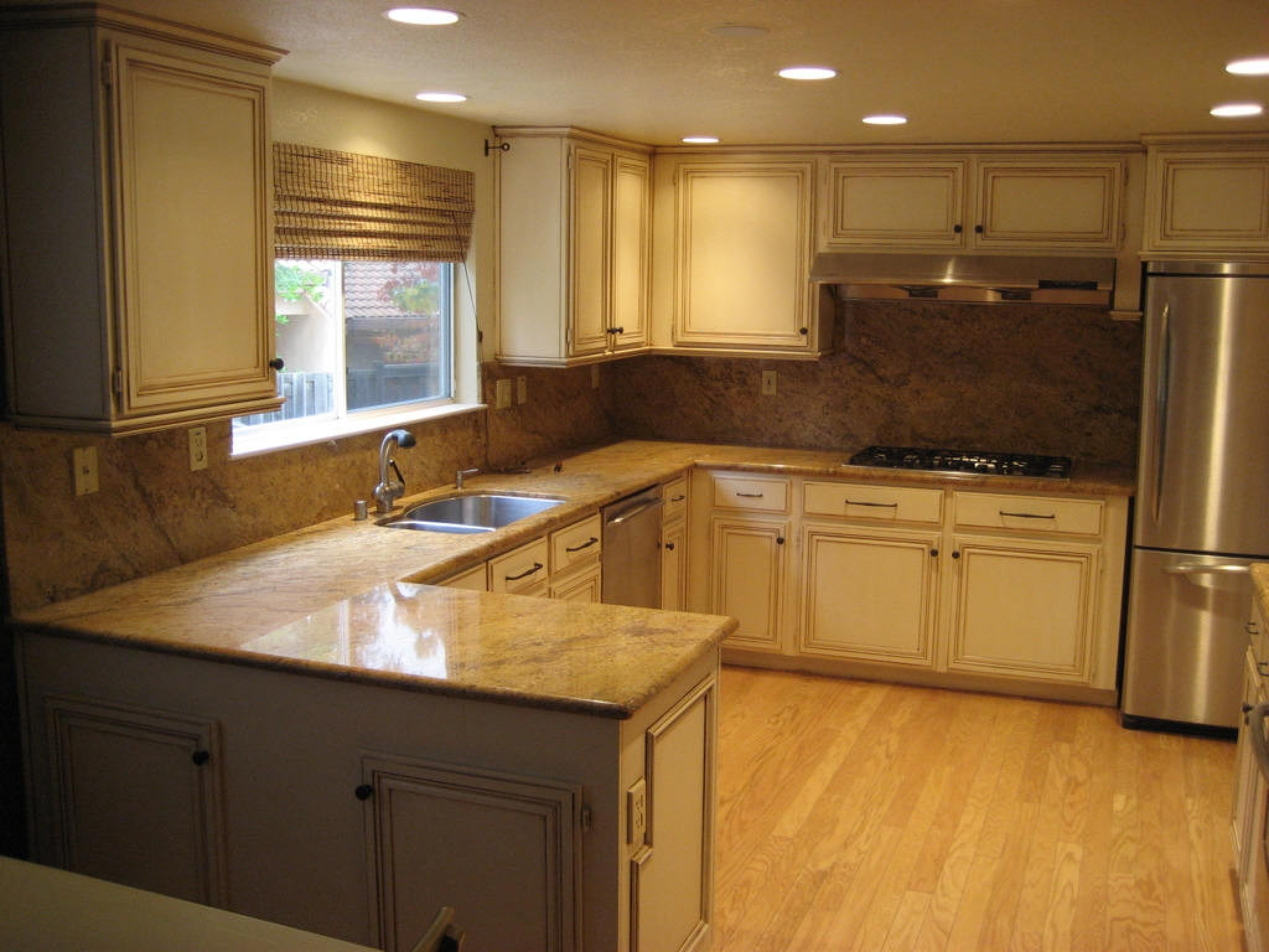 restaining kitchen cabinets lighter - kitchen cabinets painting ...
