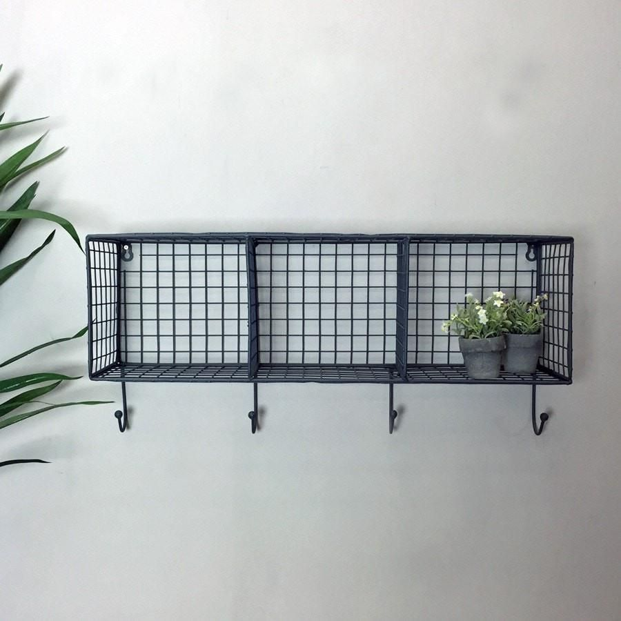 Wire Box Shelf Rack with Hooks | Utility and Laundry 2018 the ...
