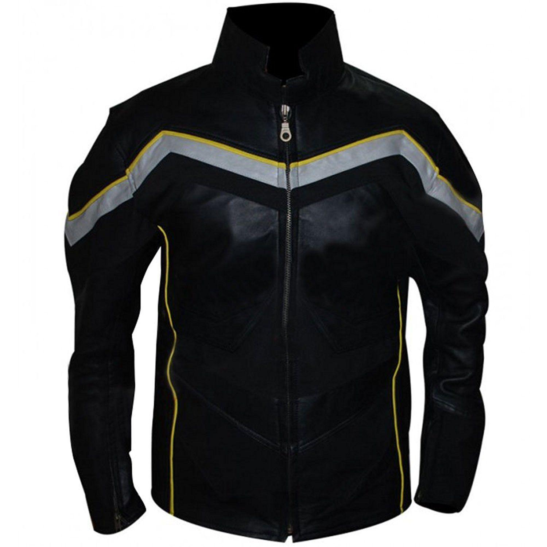 Will Smith John Hancock Black Synthetic Leather Jacket at