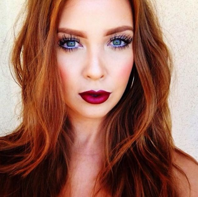 Blue Eyes Red Lips Red Hair Sulty Make Up Sultry Makeup Red