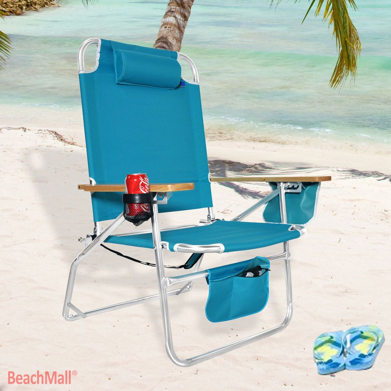 Xl Aluminum Beach Chair For Big Amp Tall 149 95 Beachmall