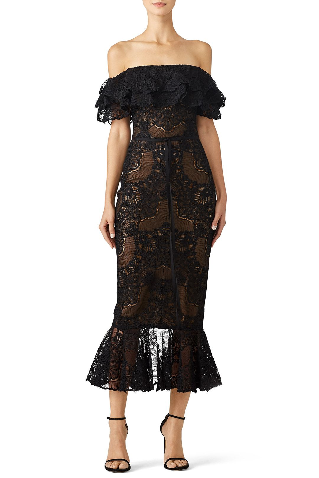 Marchesa notte green lace dress  Laced Cocktail Dress   dresses   Pinterest  Dresses Lace and