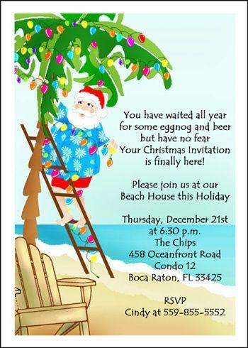 beach christmas card sayings