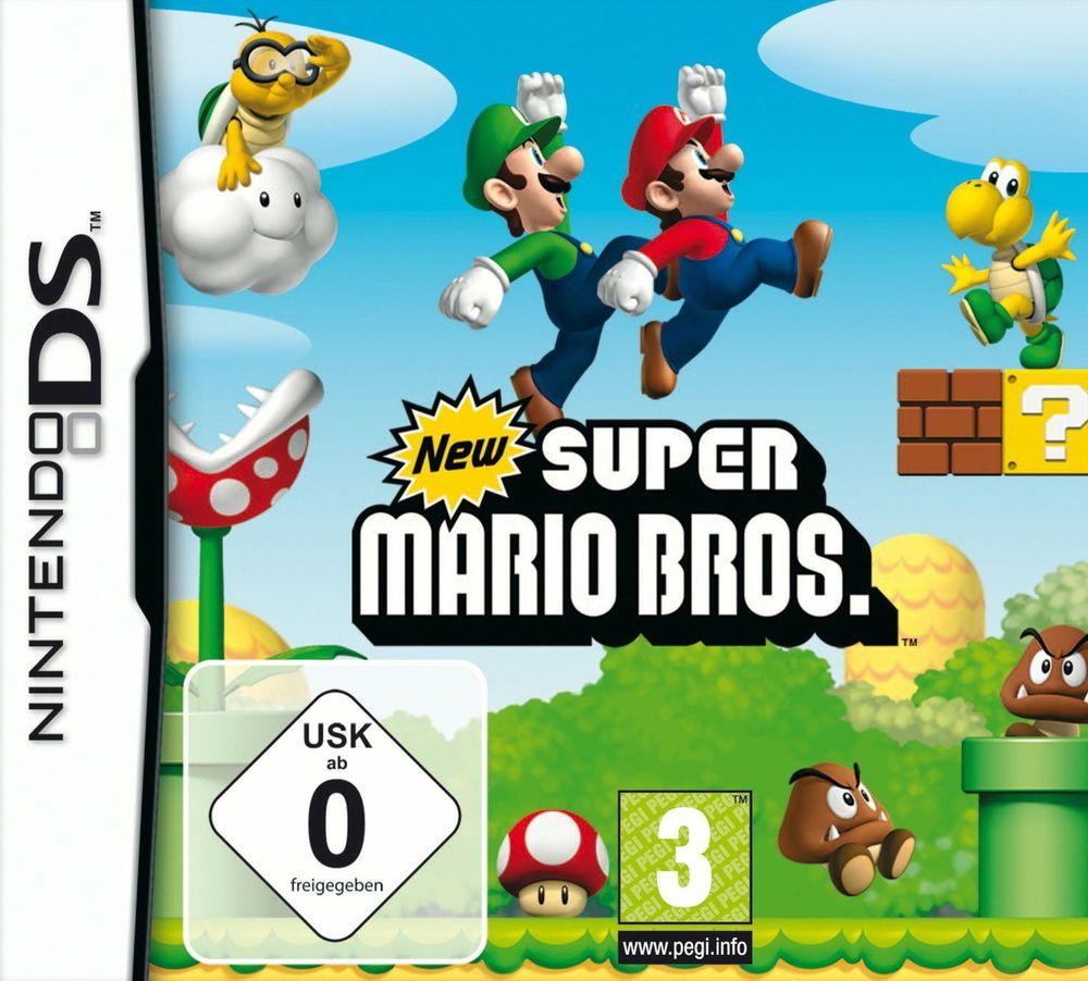 New Super Mario Bros Nintendo DS, DSi, XL, 3DS, Komplett in Deutsch !!! in OVP