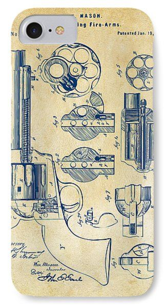1875 Colt Peacemaker Revolver Patent Vintage Phone Case by Nikki