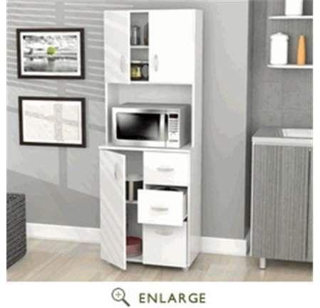 Convenience Concepts Kitchen Storage Cabinet Melamine ...