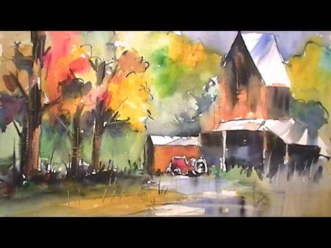 Wet In Wet Watercolor Painting Youtube Art Techniques Tutorial