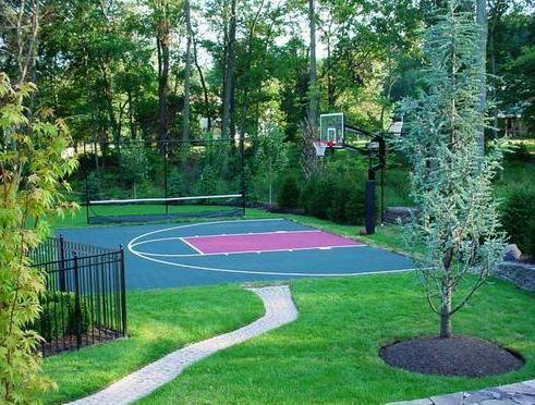 Long Island Basketball Courts New York Gym Floor Backyard Court Home Basketball Court Basketball Court Backyard